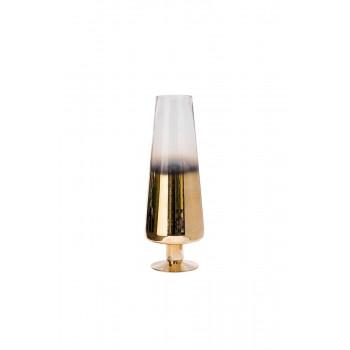 Стеклянная ваза розовое золото с прозрачным d11,5*55 35BB-0955CG