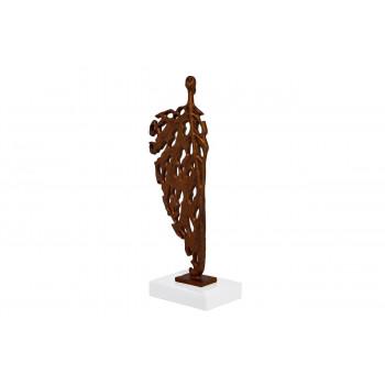 Статуэтка Абстракция-мужчина бронза 13х9х39 T1339