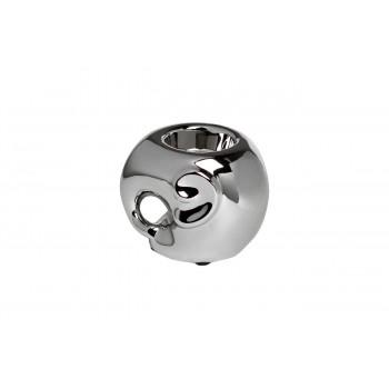 Керамический подсвечник Слоник серебряный 11х10х8,5 10K9482C