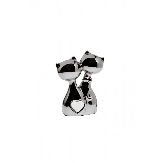 Статуэтка Котики серебряная 11х5х15 10K9287D в интернет-магазине ROSESTAR фото