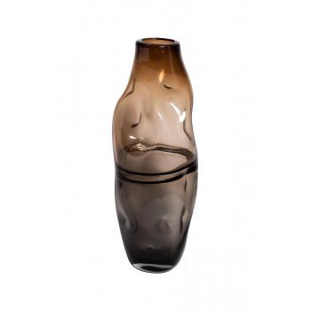 Стеклянная ваза серо-коричневая KL181-078