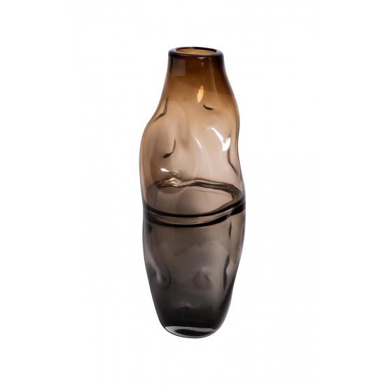 Стеклянная ваза 16х44 серо-коричневая KL181-078 в интернет-магазине ROSESTAR фото