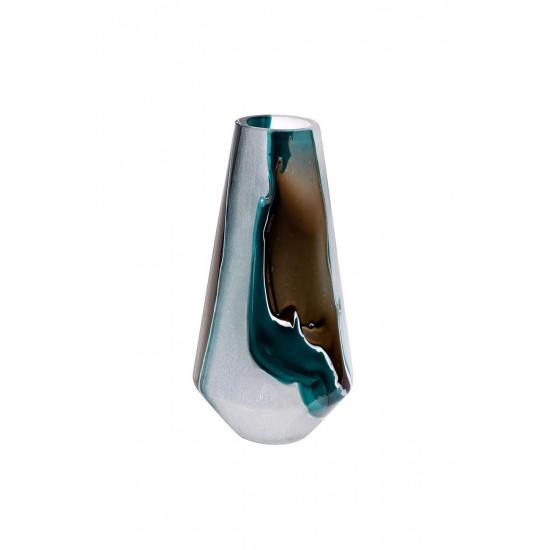 Стеклянная ваза (цветная) H34D17.5 HJ1615-34-S63  в интернет-магазине ROSESTAR фото