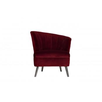 Бордовое велюровое кресло правое 80*72*81см 48MY-2553-R BUR SLV