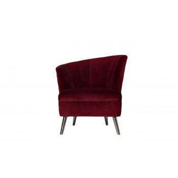 Бордовое велюровое кресло левое 80*72*81см 48MY-2553-L BUR SLV
