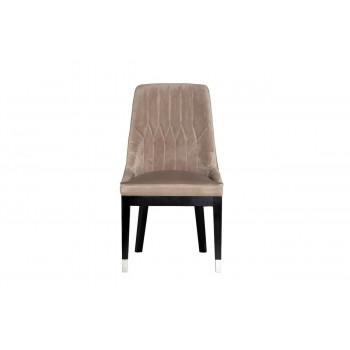 Велюровый стул с деревянными ножками жемчужно-серый 56*65*101см 48MY-3526 PEG