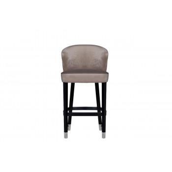 Барный стул велюр на деревянных ножках жемчужно-серый 66*59*108см 48MY-4115-B PEG