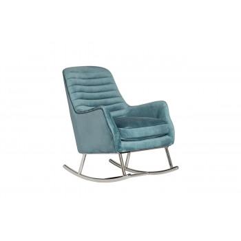 Кресло-качалка бирюзовое велюр 73*90*94см 48MY-2569 TUR SLV