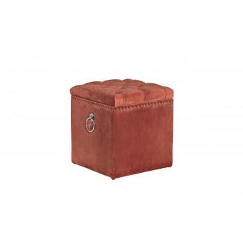 Банкетка с крышкой велюр темно-розовая 46*46*50см 48MY-5208-T DRO