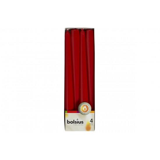 Свеча античная красная 245х24 мм., 4 шт. в интернет-магазине ROSESTAR фото
