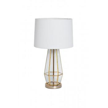Настольная лампа с белым абажуром 22-88243