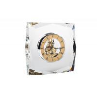 Часы настольные стеклянные золотые 14*5*15 см C81315