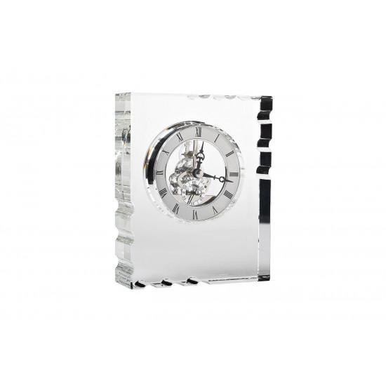 Часы настольные стеклянные серебряные 13*16*5 см C81494  в интернет-магазине ROSESTAR фото
