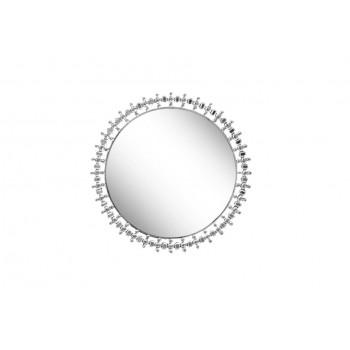 Круглое декоративное зеркало со стразами d60см 50SX-1824