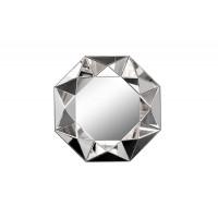 Восьмиугольное зеркало в объёмной зеркальной раме d81см 19-OA-1045