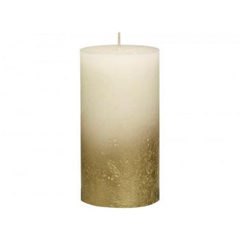 Декоративная свеча кремовая с золотом 130*68мм 103668646705