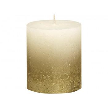 Декоративная свеча кремовая с золотом 80*68мм 103668636705