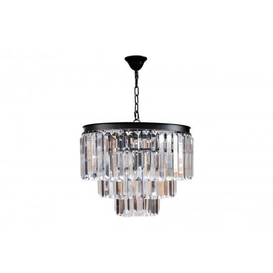 Потолочная люстра с прозрачными кристаллами 15-D6901-9BL в интернет-магазине ROSESTAR фото
