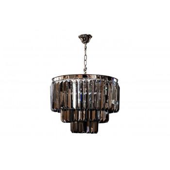 Светильник потолочный d52*45см с дымчатыми кристаллами 15-D6901-9NI