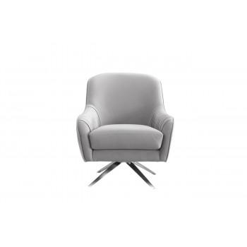 Кресло вращающееся велюр серый 75*83*92см ZW-855 GRE