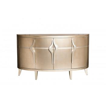 Дизайнерский округлый комод с дверцами цвет Шампань 157*41*91см ART-4500-S