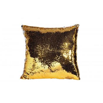 Декоративная квадратная подушка с пайетками золотая/серебряная 45*45см 28ML-P00115