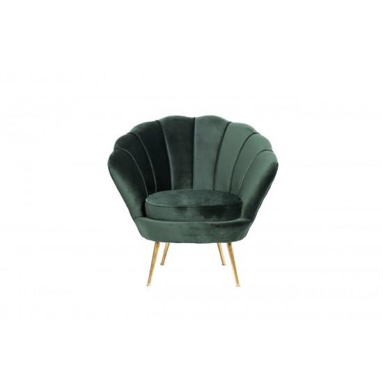 Велюровое кресло на металлических ножках зеленое 79*87*93см PJS16001-PJ622 в интернет-магазине ROSESTAR фото