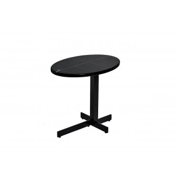 Чёрный журнальный столик с мраморной столешницей Sahara Noir 50*35*45см 33FS-ET235-BL