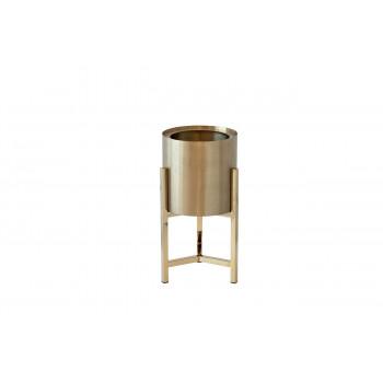 Кашпо напольное металлическое на подставке золото d25*50cм 13RXFP3105M-GOLD