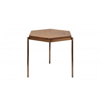 Бежевый журнальный столик из дерева на металлических ножках 60*50*49см 57EL-ET382B
