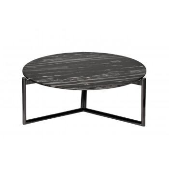 Круглый журнальный столик со столешницей из искусственного мрамора на металлических ножках d98*38см 57EL-CT392C