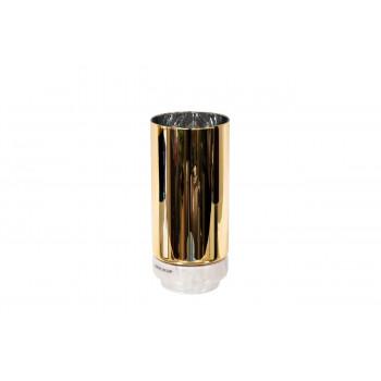 Стеклянная ваза цвет золотой 10*22см 55RV3111S