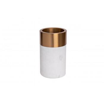 Мраморная ваза с золотым кантом 10*17см 55RD2828S