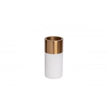 Мраморная ваза с золотым кантом 10*21см 55RD2828M