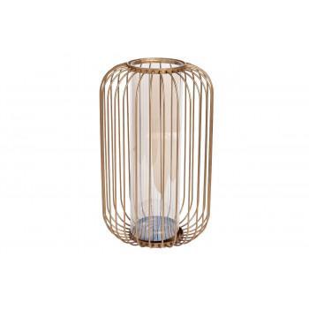 Стеклянная декоративная ваза-подсвечник 21*35см 55RV2946L
