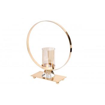 Подсвечник металлический со стеклянным декором 22*29см 55RZ3193S