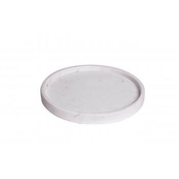Поднос мраморный цвет бело-серый d30*3см 55RD3289