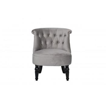 Низкое кресло на деревянных ножках велюр серый 46*61*70см 24YJ-8044B-057