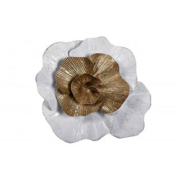 Настенный декор Цветок бело-золотой 24,1*22,2*7,0см 37SM-0662