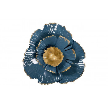 Настенный декор Цветок золотисто-голубой 23,5*23,5*6,4 37SM-0848