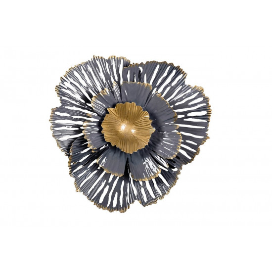 Настенный декор Цветок золотисто-серый 23,5*23,5*6,4 37SM-0850  в интернет-магазине ROSESTAR фото