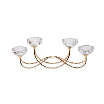 Подсвечник  на 4 свечи металлический 45*9*15см цвет золото 2KG195102CG