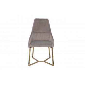Велюровый стул с металлическими ножками серый 55*62*94см 30C-1185 GRE