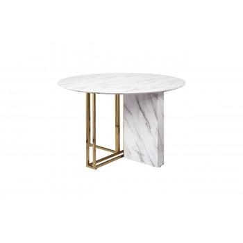 Стол обеденный круглый из искусственного мрамора 120*76см 30F-1171-1