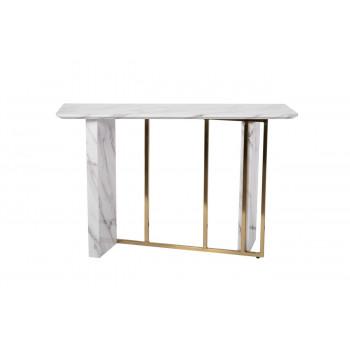 Стол-консоль из искусственного мрамора 120*40*76cм 30B-848-2