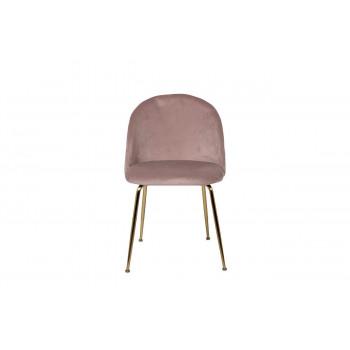 Велюровый стул на металлических ножках пепельно-розовый  50*53*77см 30C-301-1G LPI