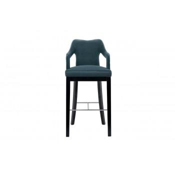 Барный стул велюр сине-зеленый 52*54*102см 48MY-4126-B BLU