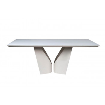 Стол обеденный белый прямоугольный Quadro 200*100*76см 58DB-DT15873
