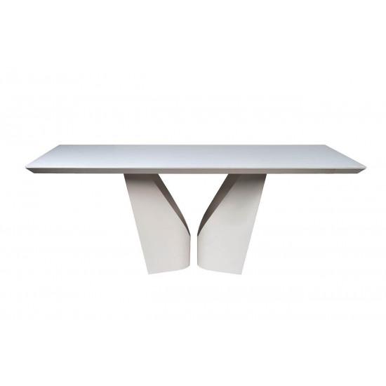 Стол обеденный белый прямоугольный Quadro 200*100*76см 58DB-DT15873 в интернет-магазине ROSESTAR фото