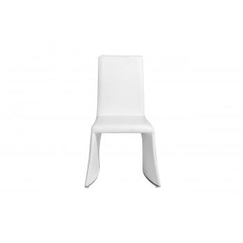 Стул белый обеденный экокожа 58*57*94см 58DB-DC15825